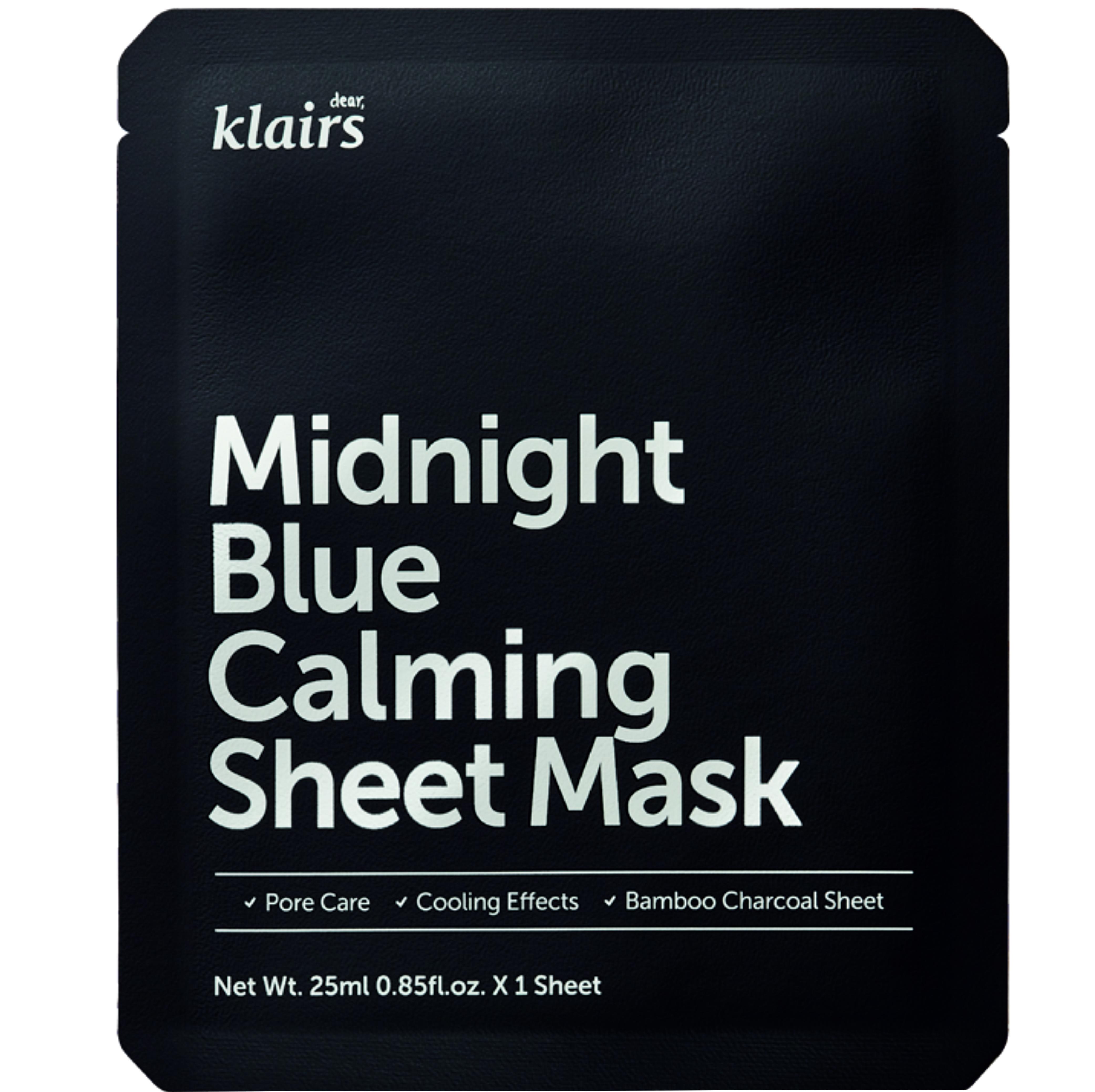 Dear Klairs  Midnight Blue Calming Sheet Maske